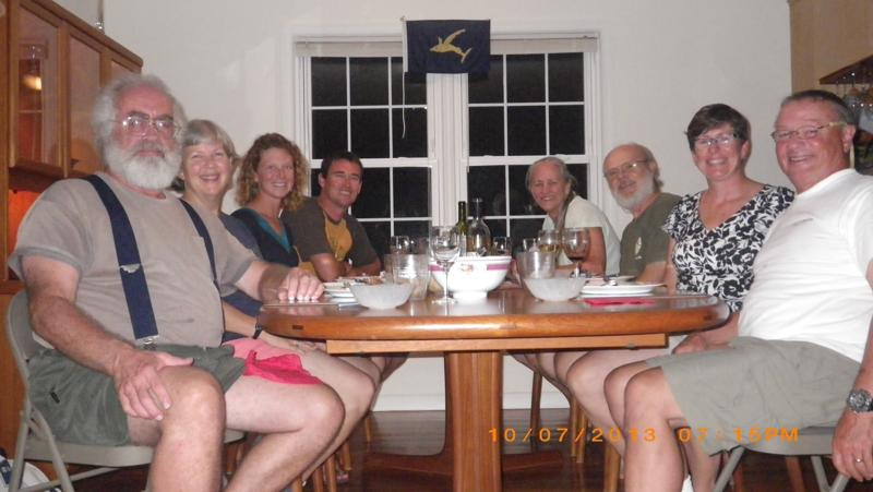 Left-Right:  Doug & Anne s/v Drakus, Steph & Brian s/v Rode Trip, D & Don s/v Southern Cross, Lorraine & Phil s/v Changes