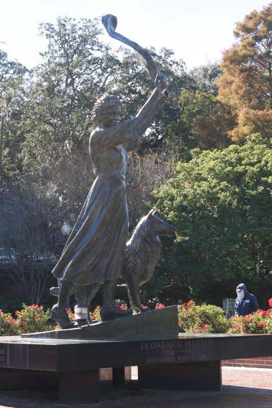 Waving Girl Monument - lighthouse keeper's sister, Florence Martus, who for 44 years waved to ships in Savannah's port.
